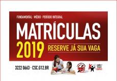 Matrículas 2019